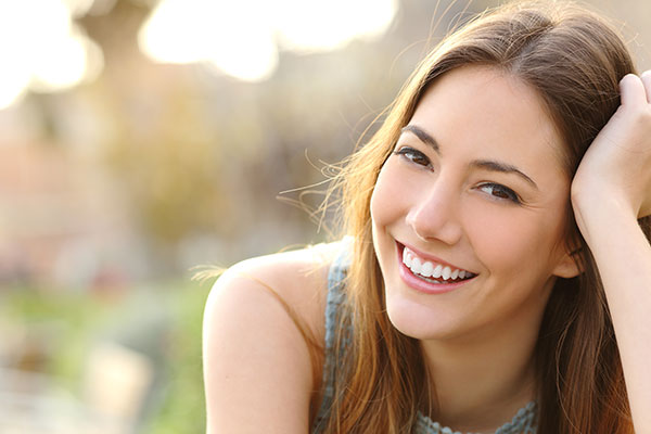 healthly looking smiling woman